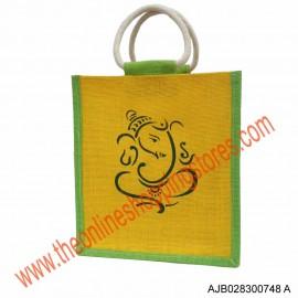 Akshay Jute Bag with Ganesha Print-748