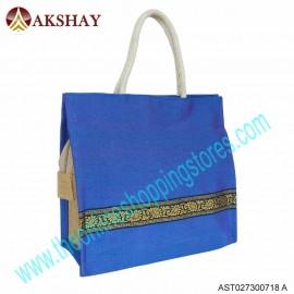 Akshay Raw Silk Jute Bag-718VC