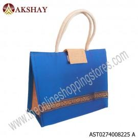 Akshay Raw Silk Jute Bag with flap-825VC